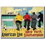 "Trademark Global Henri Cassiers ""American Line New York to Southhampton"" Canvas Art, 18"" x 24"""