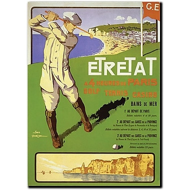 Trademark Global Geo Dorival in.Etretatin. Canvas Art, 24in. x 18in.