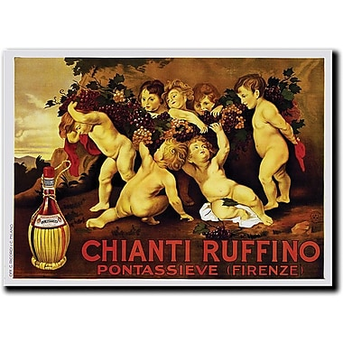 Trademark Global Leopoldo Metlicovitz in.Chianti Ruffinoin. Canvas Arts