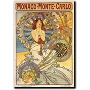 "Trademark Global Alphonse Mucha ""Monaco Monte Carlo"" Canvas Art, 47"" x 35"""