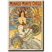 "Trademark Global Alphonse Mucha ""Monaco Monte Carlo"" Canvas Art, 48"" x 36"""