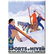 """Trademark Global Paul Lawler """"Sports d'Hiver Mont Blanc"""" Canvas Arts"""