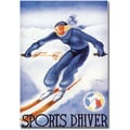 Trademark Global Arou in.Sports D'Hiverin. Canvas Art, 48in. x 36in.