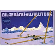 "Trademark Global Carl Kunst ""Bilgeri Ski Ausrustung"" Canvas Art, 24"" x 32"""