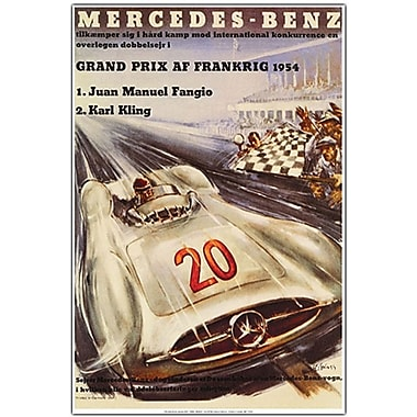 Trademark Global in.Mercedes Benz Grand Prixin. Canvas Art, 19in. x 14in.