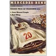 Trademark Global Mercedes Benz Grand Prix Canvas Art, 19 x 14