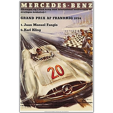 Trademark Global in.Mercedes Benz Grand Prixin. Canvas Art, 24in. x 18in.