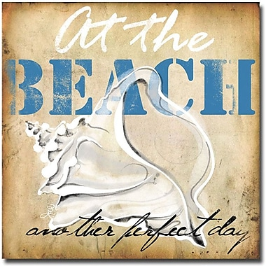 Trademark Global Working Girls Design in.At the Beachin. Canvas Arts