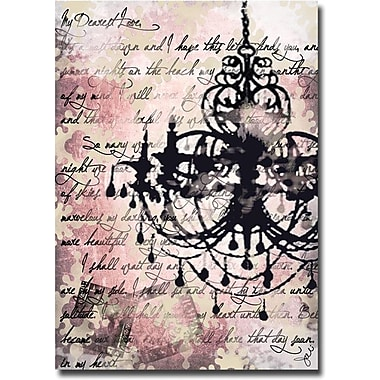 Trademark Global Working Girls Design in.Chandelierin. Canvas Art, 24in. x 16in.