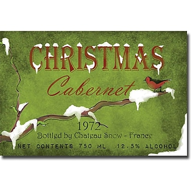 Trademark Global Working Girls Design in.Christmas Cabrenetin. Canvas Arts