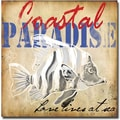 Trademark Global Working Girls Design in.Coastal Paradise IIin. Canvas Arts