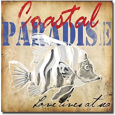 Trademark Global Working Girls Design in.Coastal Paradise IIin. Canvas Arts