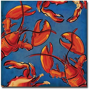 Trademark Global Working Girls Design in.Crab and Lobsterin. Canvas Art, 18in. x 18in.