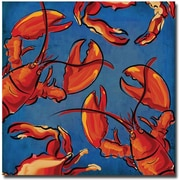 Trademark Global Working Girls Design Crab and Lobster Canvas Art, 35 x 35