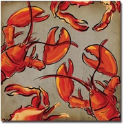 Trademark Global Working Girls Design Crab and Lobster II Canvas Art, 24 x 24