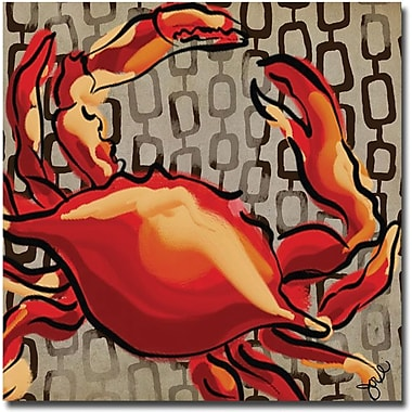 Trademark Global Working Girls Design in.Crab IIin. Canvas Art, 18in. x 18in.