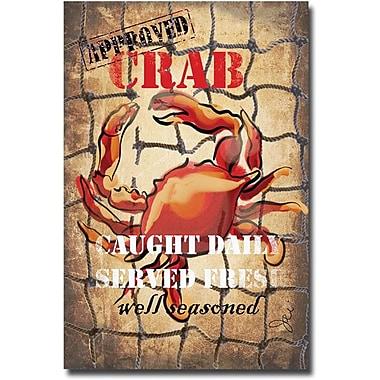Trademark Global Working Girls Design in.Crab Boxin. Canvas Arts