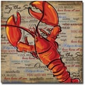 Trademark Global Working Girls Design in.Lobster IIin. Canvas Art, 18in. x 18in.