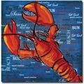Trademark Global Working Girls Design in.Lobster IIIin. Canvas Art, 18in. x 18in.