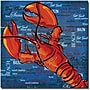Trademark Global Working Girls Design Lobster III Canvas