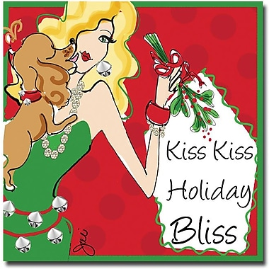 Trademark Global Working Girls Design in.Kiss Kissin. Canvas Art, 18in. x 18in.