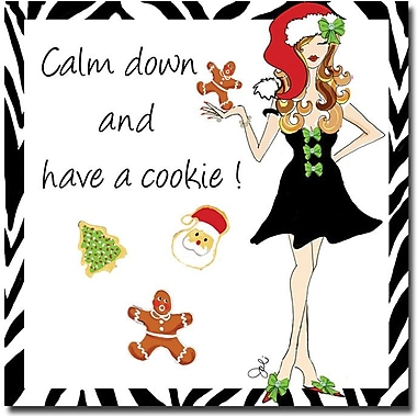 Trademark Global Working Girls Design in.Calm Down IIin. Canvas Art, 18in. x 18in.