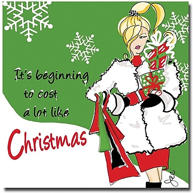 Trademark Global Working Girls Design in.Cost Like Christmasin. Canvas Art, 35in. x 35in.