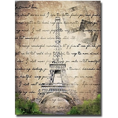 Trademark Global Working Girls Design in.Parisin. Canvas Art, 24in. x 16in.