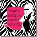 Trademark Global Working Girls Design in.Everything Will Be Finein. Canvas Art, 35in. x 35in.