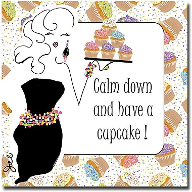 Trademark Global Working Girls Design in.Have a Cupcakein. Canvas Art, 18in. x 18in.