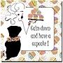 Trademark Global Working Girls Design Have a Cupcake