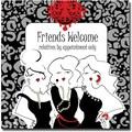Trademark Global Working Girls Design in.Friends Welcomein. Canvas Art, 24in. x 24in.