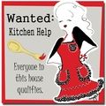 Trademark Global Working Girls Design in.Kitchen Helpin. Canvas Art, 18in. x 18in.