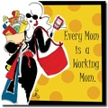 Trademark Global Working Girls Design in.Working Momin. Canvas Art, 18in. x 18in.