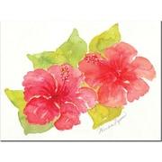 "Trademark Global Wendra ""Hibiscus April"" Canvas Art, 18"" x 24"""