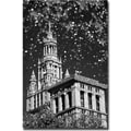 Trademark Global Yale Gurney in.Waterfall Over City Hallin. Canvas Art, 24in. x 16in.