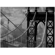 Trademark Global Yale Gurney Manhattan Bridge Canvas Art, 14 x 19