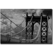 Trademark Global Yale Gurney Manhattan Bridge Canvas Art, 35 x 47