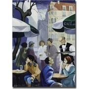 Trademark Global Yelena Lamm Paris Cafe Canvas Art, 32 x 24