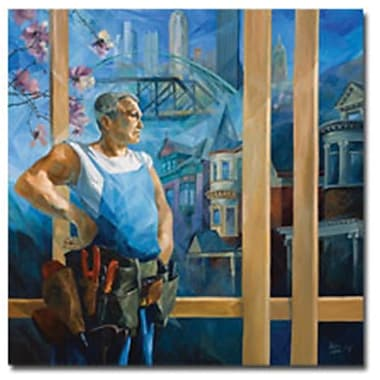 Trademark Global Yelena Lamm in.Spring in Pittsburghin. Canvas Art, 24in. x 24in.