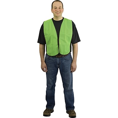 PIP Hi-Vis Safety Vest, Non-ANSI, Hook & Loop Closure, One Size