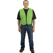 PIP Hi-Vis Safety Vest, Non-ANSI, Hook & Loop Closure, Lime Yellow, One Size