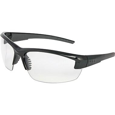 Uvex Mercury Safety Glasses, Clear Lens Hardcoat, Black & Gray Frame