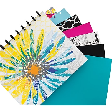 M by Staples Arc Customizable Durable Poly Notebook System, Clear, 6 3/8in. x 8 3/4in.