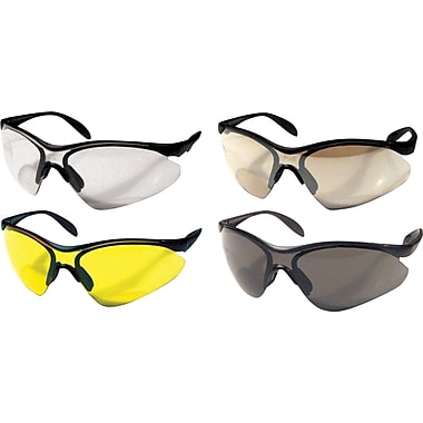 Dentec 937 Citation Safety Glasses Series Eyewear Black frame with paddle temples