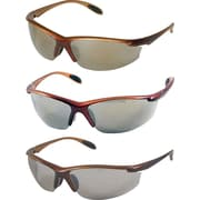 Dentec Catalina Safety Glasses, Brown Metallic frame with paddle temples