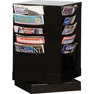 Durham Con-Tur® Rotary Literature Racks, 20 Pocket, Black