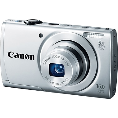 Canon PowerShot A2500 Digital Camera, Silver