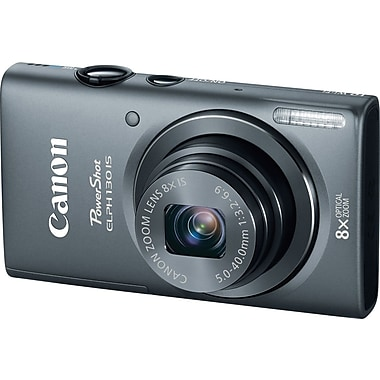 Canon PowerShot ELPH 130 IS Digital Camera, Gray