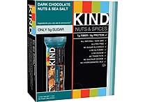 KIND Dark Chocolate Nuts & Sea Salt Bars, 1.41 oz. Bars, 12 Bars/Box